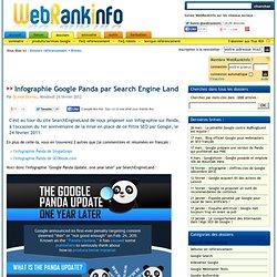 Infographie Google Panda (1 an) par Search Engine Land