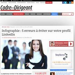 Infographie : 5 erreurs à éviter sur votre profil LinkedIn