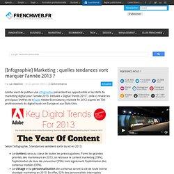 [Infographie] Marketing : quelles tendances vont marquer l'année 2013 ?