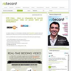 RTB Vidéo : bilan en infographie du marché programmatique vidéo en janvier 2014 par StickyADS.tv