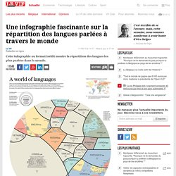 Une infographie fascinante sur la répartition des langues parlées à travers le monde - Sciences