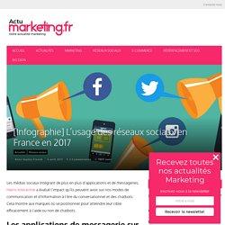 RESEAUX SOCIAUX : [Infographie] L'usage des réseaux sociaux en France en 2017