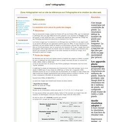 Infographie- La résolution et le calcul du poids des images