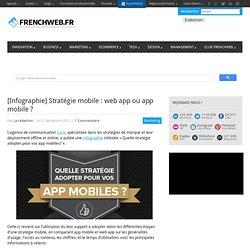 [Infographie] Stratégie mobile : web app ou app mobile ?