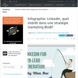 Infographie: LinkedIn, quel intérêt dans une stratégie marketing BtoB?