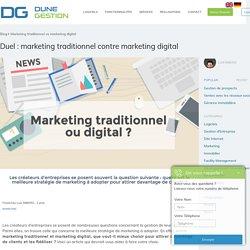Infographie - MARKETING TRADITIONNEL VS MARKETING DIGITAL !