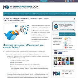 10 astuces pour obtenir plus de retweets sur Twitter [Infographie]