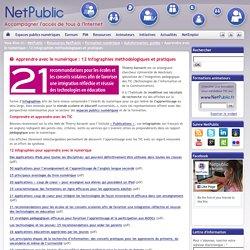 Apprendre avec le numérique : 12 infographies méthodologiques et pratiques