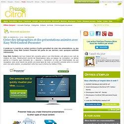Créer des infographies et des présentations animées avec Easy Web Content Presenter
