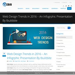 Web Design Trends in 2016 – An Infogrphic Presentation By Ibuildsite