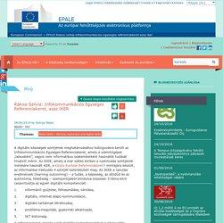 Rákosi Szilvia: Infokommunikációs Egységes Referenciakeret, azaz IKER
