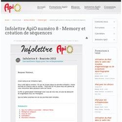 Infolettre ApiO numéro 8 - Memory et création de séquences