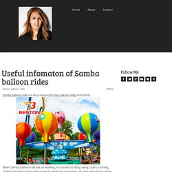 Useful infomaton of Samba balloon rides - Cynthia A. Reiss at Jimdo