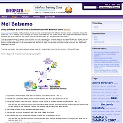 Using InfoPath E-mail Forms to Communicate with External Users - Mel Balsamo