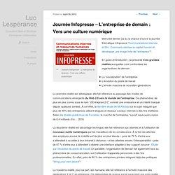 Journée Infopresse – L'entreprise de demain : Vers une culture numérique