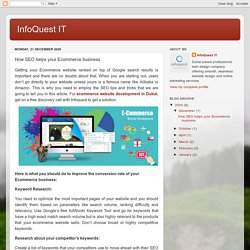 InfoQuest IT: How SEO helps your Ecommerce business