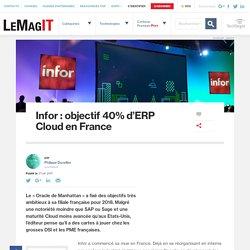 Infor : objectif 40% d'ERP Cloud en France