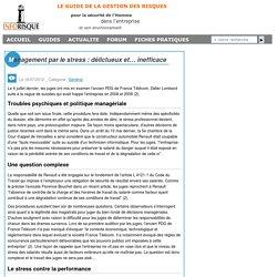 Inforisque.info - Management par le stress : délictueux et… inefficace