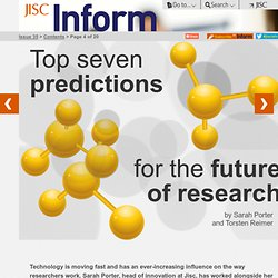 JISC Inform / Issue 35, Winter 2012 | #jiscinform