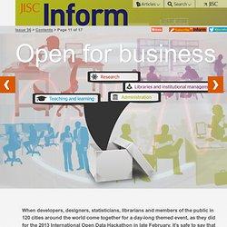 JISC Inform / Issue 36, Spring 2013