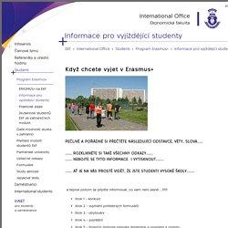 Informace pro vyjíždějící studenty - Ekonomická fakulta - VŠB-TUO