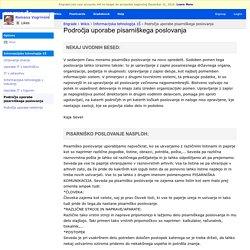 Informacijska tehnologija 1Š - Področja uporabe pisarniškega poslovanja