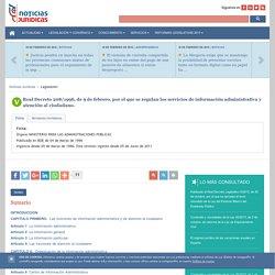 Real Decreto 208/1996, de 9 de febrero, por el que se regulan los servicios de información administrativa y atención al ciudadano.