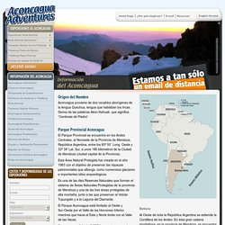 Cerro Aconcagua. Información. Aconcagua Adventures