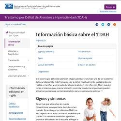 Información básica sobre el TDAH