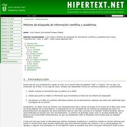 Motores de búsqueda de información científica y académica - Hipertext - ( UPF )