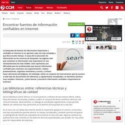 Encontrar fuentes de información confiables en Internet
