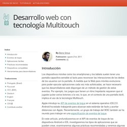 Información para desarrolladores de navegadores web con tecnología Multitouch
