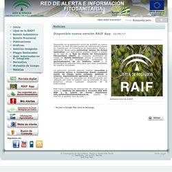 JUNTA DE ANDALUCIA 22/09/17 XYLELLA - Disponible nueva versión RAIF App
