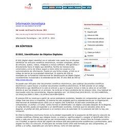 Información tecnológica - El DOI, Identificador de Objetos Digitales
