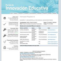 Portal del Servicio de Innovación Educativa