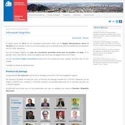 Información Geográfica - Intendencia Metropolitana - Gobierno de Chile