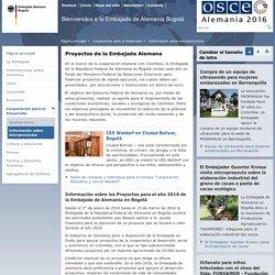 Embajada Alemana Bogotá - Información sobre microproyectos