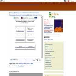 Recursos de información e orientación académica 2020-2021