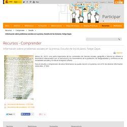 Información sobre problemas sociales en la prensa. Estudio de los titulares. Felipe Zayas - Detalle - educaLAB