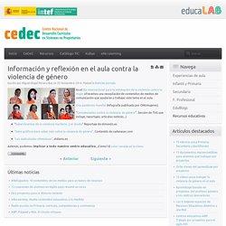 Información y reflexión en el aula contra la violencia de género