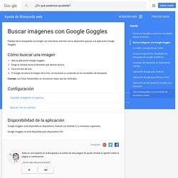 Buscar imágenes con Google Goggles - Ayuda de Búsqueda web