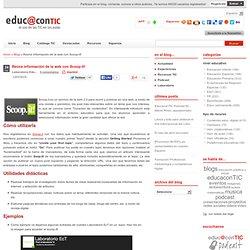 Reúne información de la web con Scoop-it!