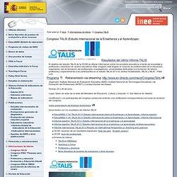 Informaciones de interés > Congreso TALIS Instituto Nacional de Evaluación Educativa