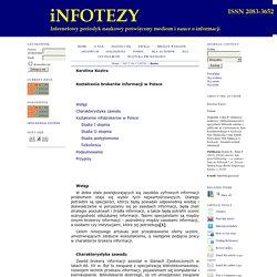 Kształcenie brokerów informacji w Polsce / Education information brokers in Poland