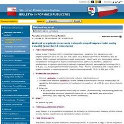 Biuletyn Informacji Publicznej Starostwa Powiatowego w Gryfinie
