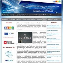 Technologie informacyjno-komunikacyjne (TIK ) w rozwijaniu kompetencji zawodowych i społecznych osób z mniejszymi szansami