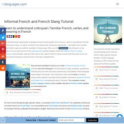 Informal French & Slang Tutorial