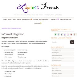 Informal French Negation - Pas without ne