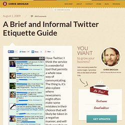 A Brief and Informal Twitter Etiquette Guide
