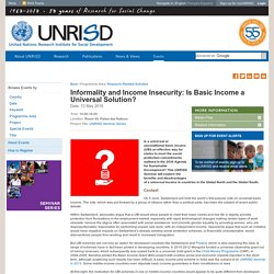 Informality and Income Insecurity: Is Basic Income a Universal Solution?